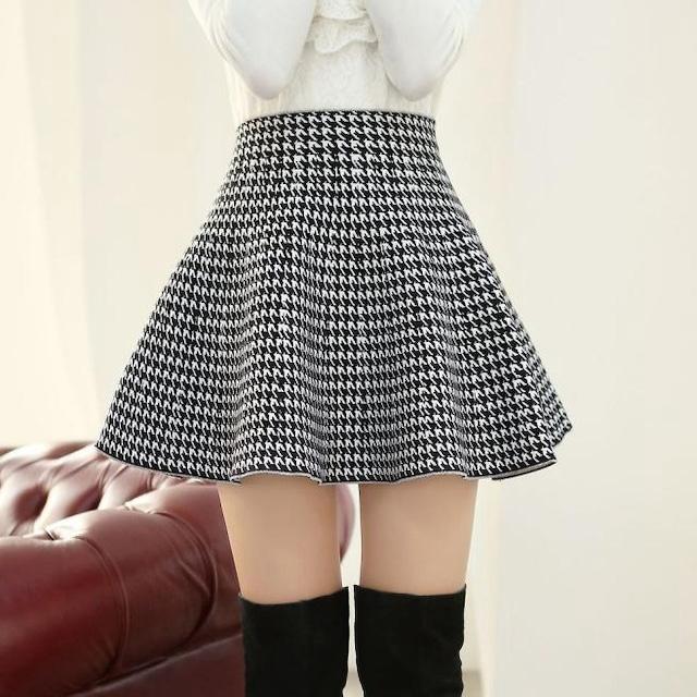 【ボトムス】ファッション膝上ハイウエストAラインスカート52983363