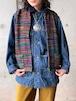 Vintage Multi Color Silk Vest