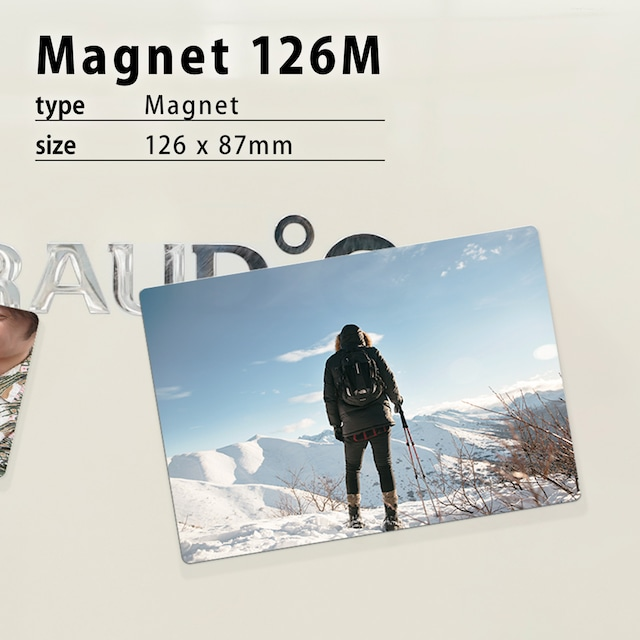 オリジナルマグネット作成・L判写真サイズ126M(126×87mm)/マグネット印刷/アルミプレートで丈夫
