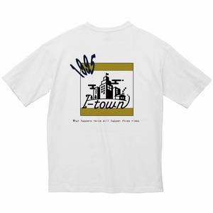 ロゴビッグTシャツ_ホワイト(ブラウン&ネイビー)_series0_夏期モデル