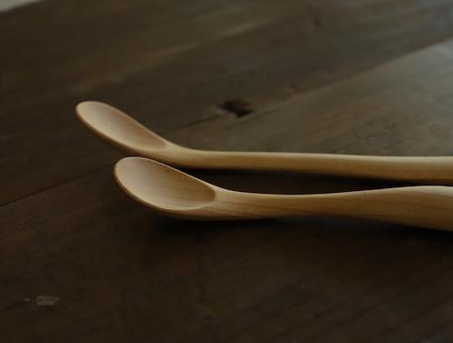 島根県産ヤマサクラの木 カトラリーセット〈子ども用スプーン2種・カトラリーケース〉