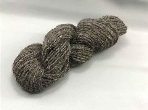 Yy1)ゴッドランド 3本撚り ダークグレー 毛糸