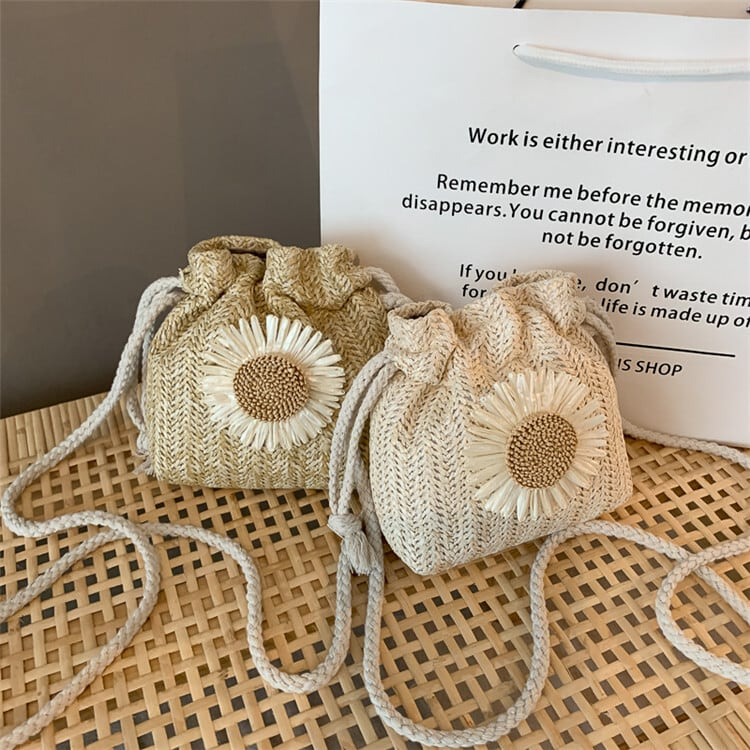 Sunflower Straw Mini Bag