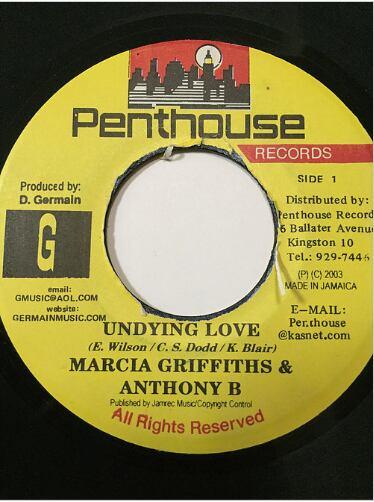 Marcia Griffiths(マーシャグリフィス) & Anthony B(アンソニービー) - Undying Love【7'】