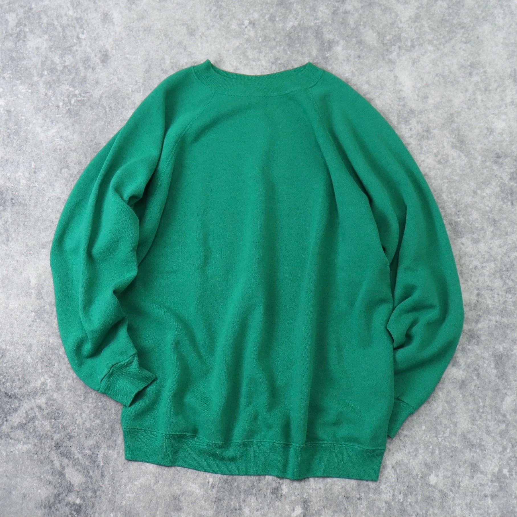 90年代 USA製 ラグランスウェットシャツ 無地 XXL 古着 B151