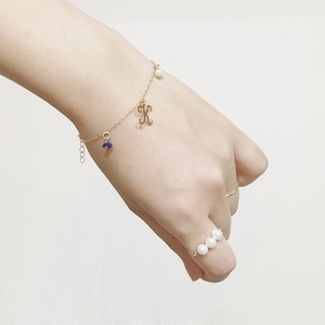 BIRTH STONE Bracelet No.01 Initials