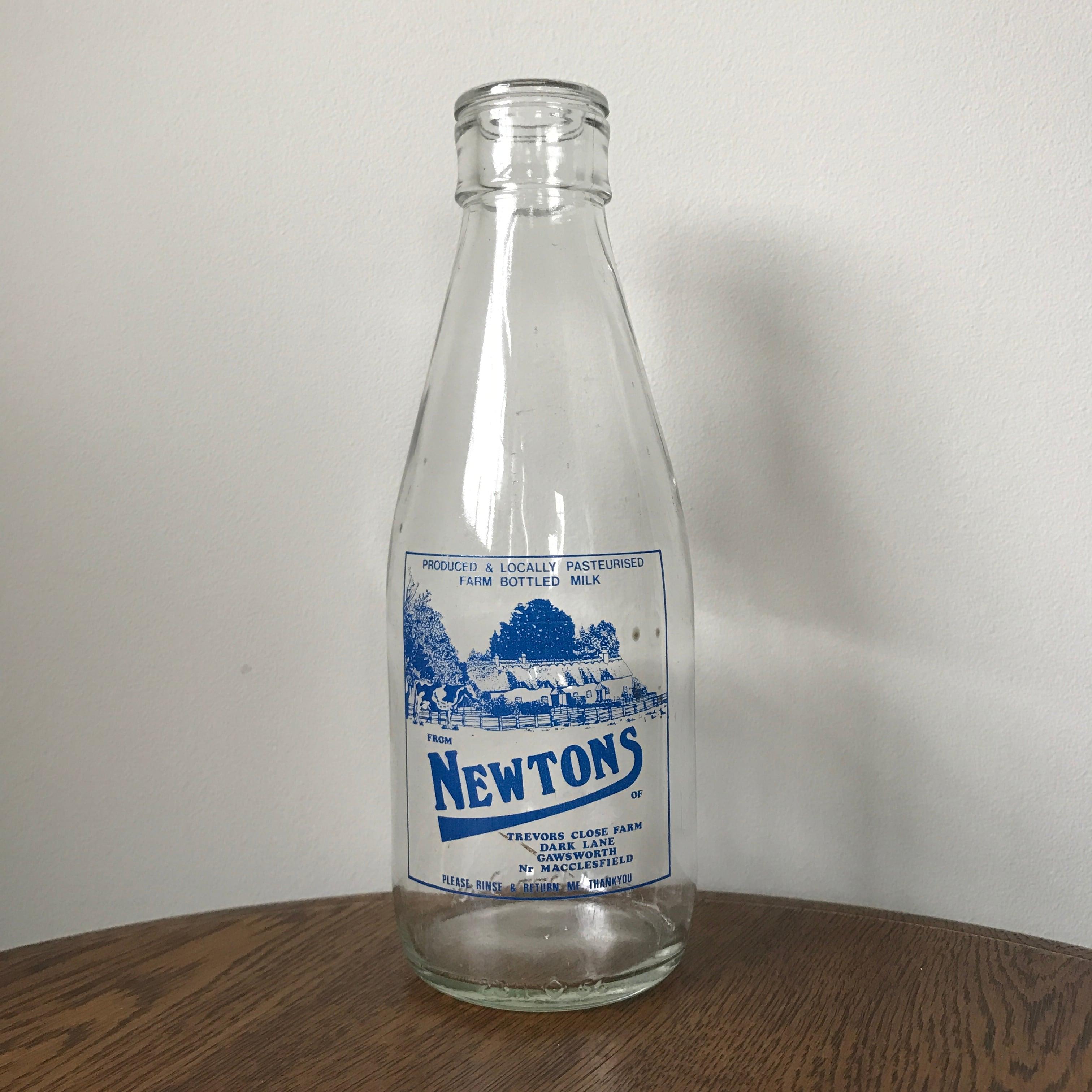Milk Bottle blue