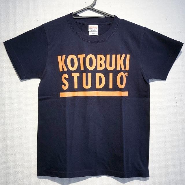 江口寿史 「KOTOBUKI STUDIO」Tシャツ(ネイビー×オレンジ字)クリアファイル付き( ※色は選べません)