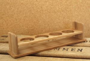 木製試験管立て 4本用