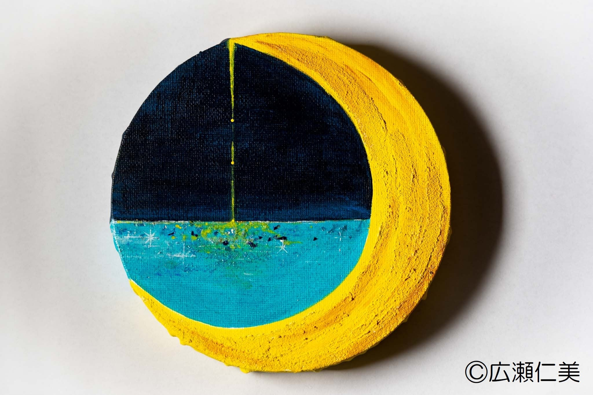 「月の雫」他、丸形キャンバス画:受注制作