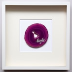 Wall letter◇bright pink / Wall decor/calligraphy agate slice/handwritten/ウォールデコ カリグラフィー アゲートスライス