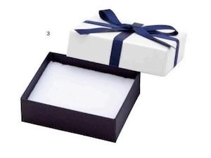 アクセサリー紙箱 リボン付きフェザーボックス ピアス・リング・ネックレス切り込みスポンジ付き 12個入り 7343-REP