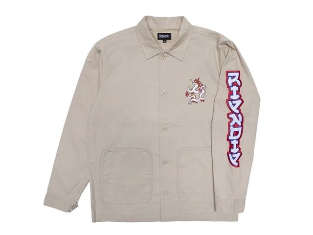 RIPNDIP|Dragonerm Ripstop Work Jacket (Khaki)