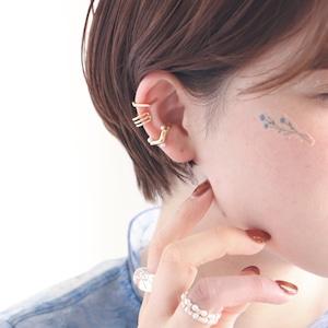 EAR CUFF || 【通常商品】 HEXAGON & MINI PEARL 3 EAR CUFF SET || 1 EAR CUFF || GOLD || FBB066