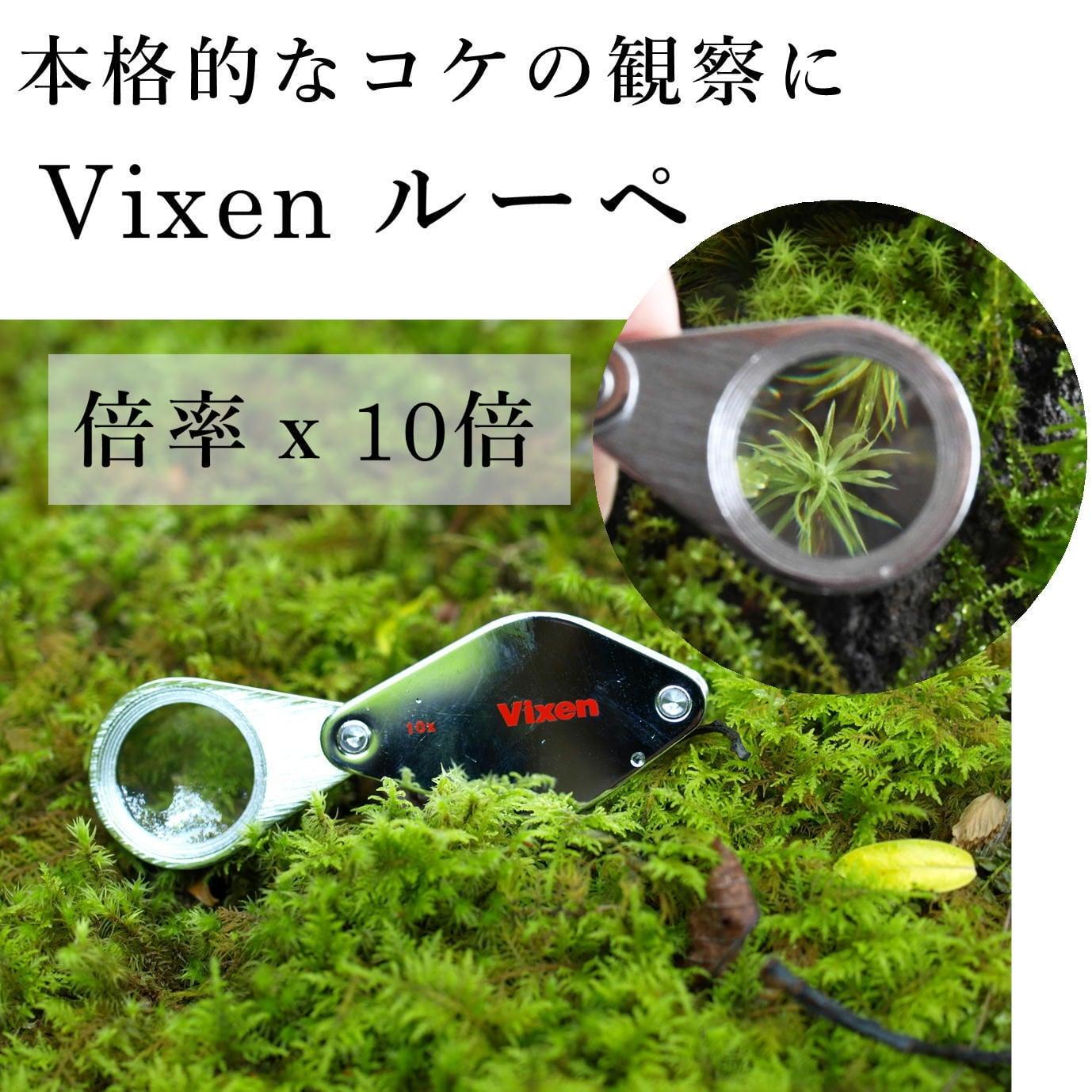 【コケ観察用】Vixen メタルフォルダー ルーペ 10倍