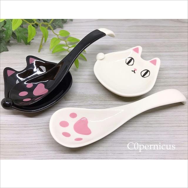 ネコの薬味皿&肉球スプーン ネコ雑貨/浜松雑貨屋C0pernicus