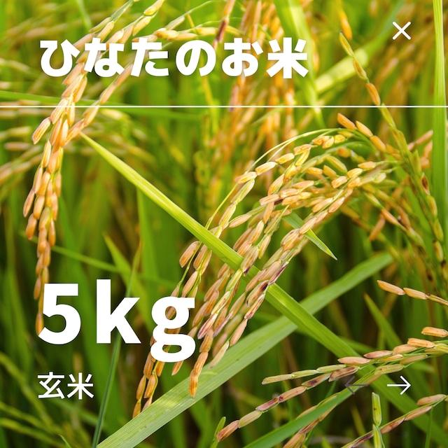 ひなたのお米 玄米 5kg