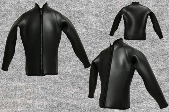エアカーボン起毛5X5mmウエットスーツ長袖ジャケットwsm1710ac(ノーマルファスナーフルオーダー料込)