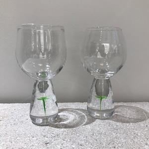 Clover wine glass