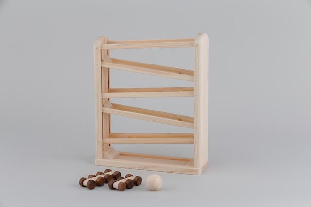 ひのきコースター DOWNHILL RUNNER ※送料無料 | 木のおもちゃ 出産祝い コースター スロープ