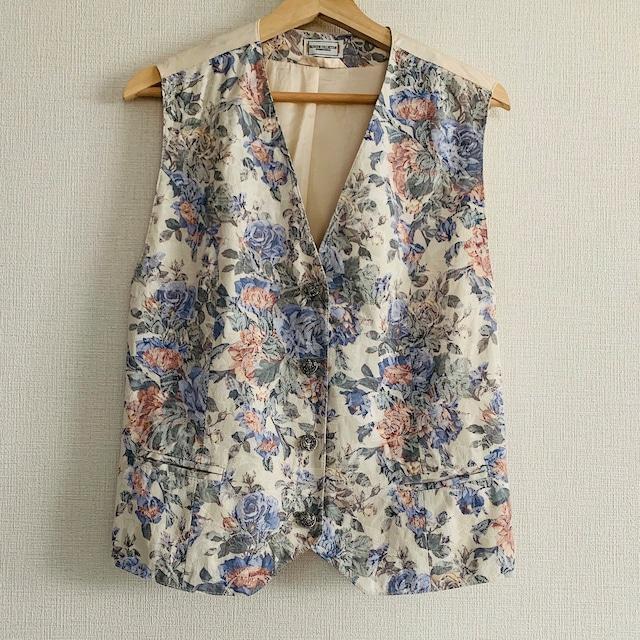 【送料無料】 80's-90's Vintage tapestry vest