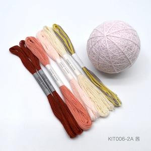 手まり制作キット「ひな桜」おかわりセット(テキストなし)_KIT006-2