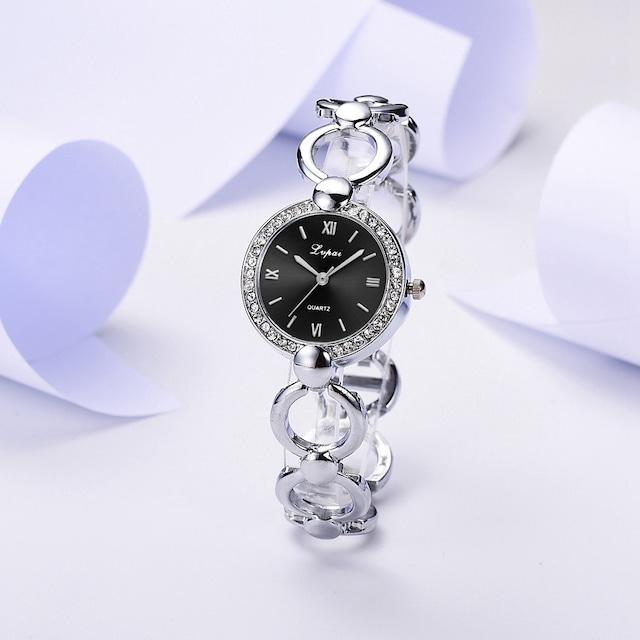 LVPAI LT-M1787(silver-black) レディース腕時計