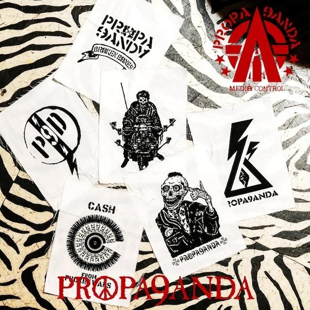 PROPA9ANDA / プロパガンダ「ARTSTORM 6P PATCHES」6枚セット パッチ ワッペン 黒白 ブラック ホワイト スカル ドクロ メンズ レディース ロック パンク ROCK PUNK バンド ギフト ラッピング無料 ステージ衣装 Rogia