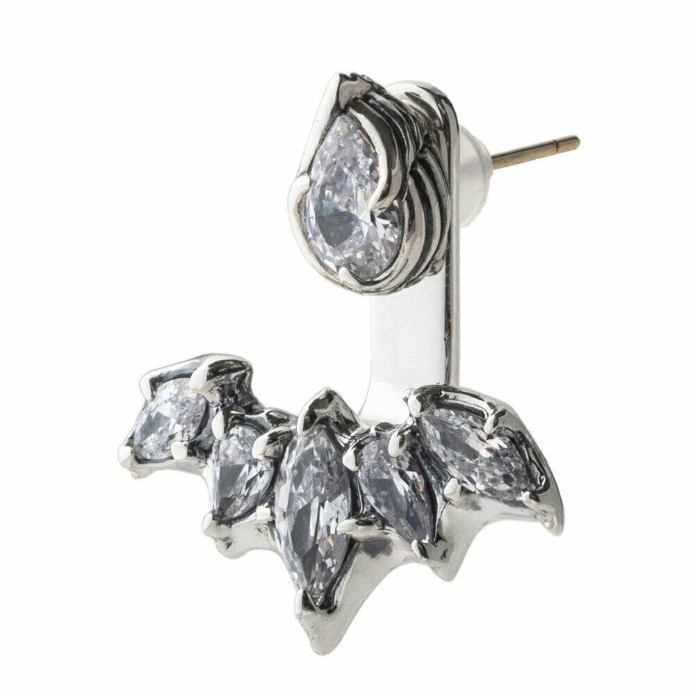 ルシファーイヤージャケットピアス(クリアー)  ACE0159 Lucifer Ear Jacket Earrings (Clear)
