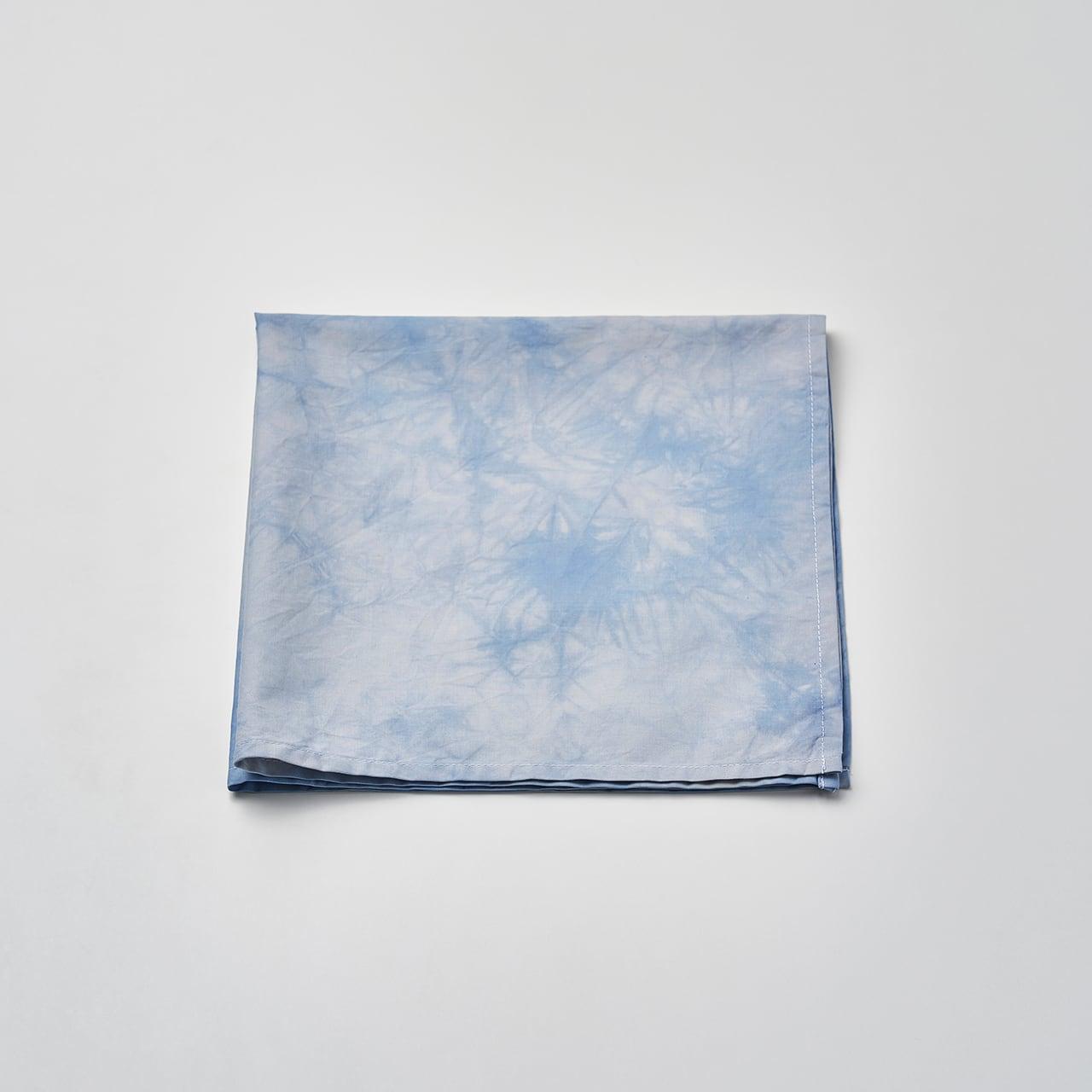 肌触りの良いハンカチ(ライトブルー)50cm×50cm