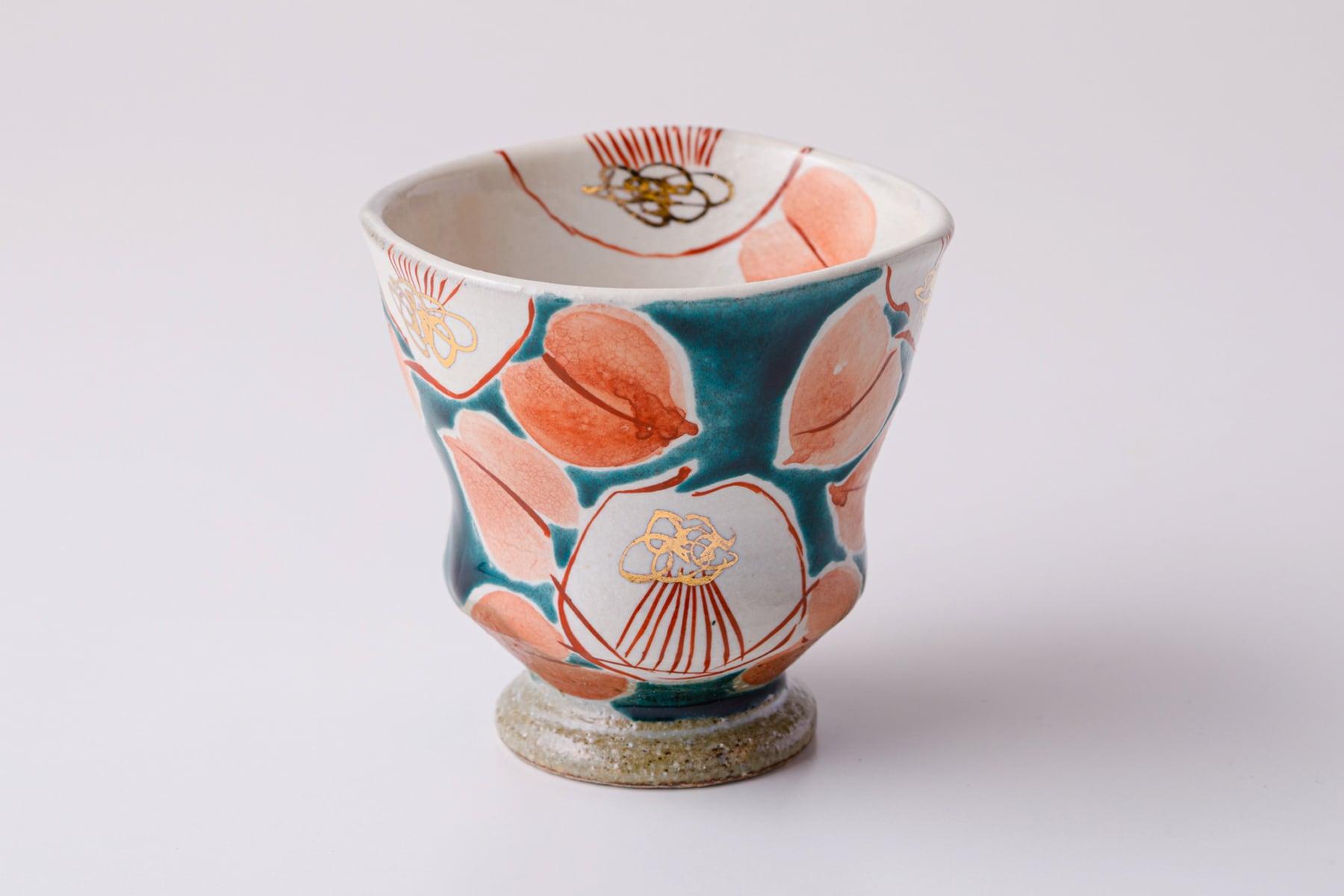 湯呑ペコ 釉彩椿