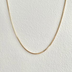 【GF1-131】14inch gold filled chain necklace