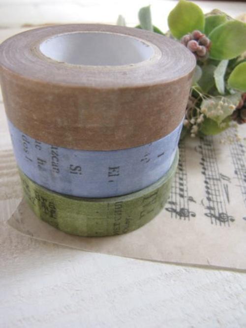 マスキングテープ*3色セット・コラージュ/セレクト雑貨