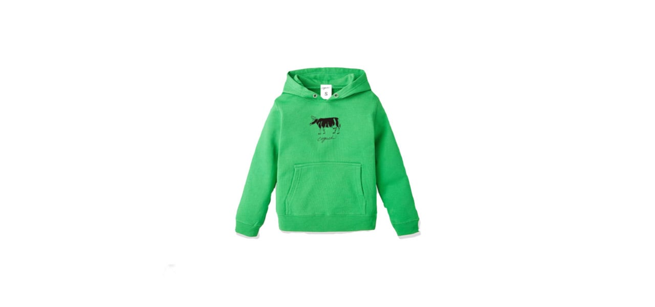 coguchi cow kids hoodie (GR)