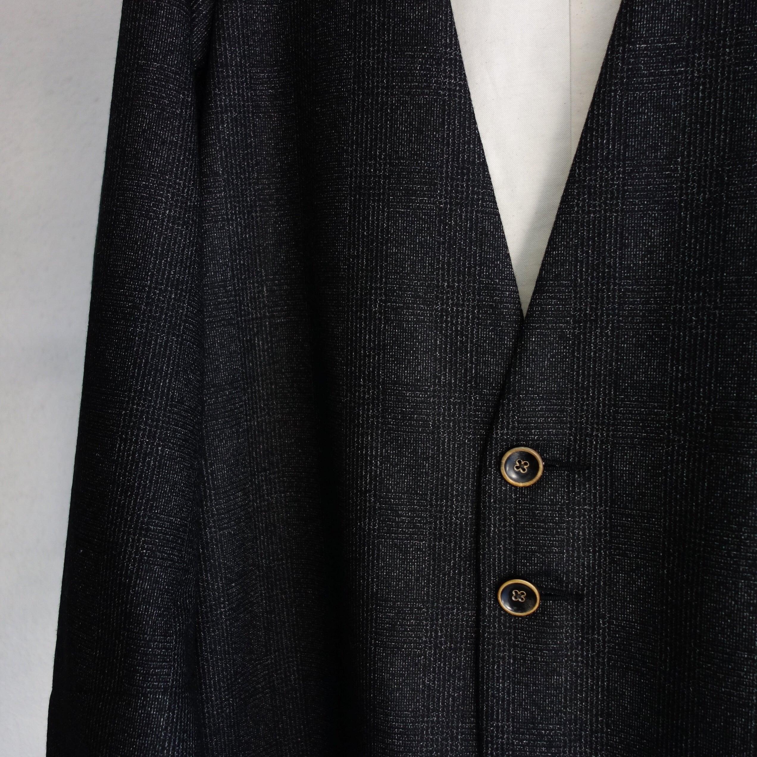 classic artisanal tweed jkt  black