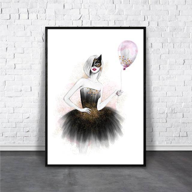 Halloween girl / 【アートポスター専門店 Aroma of Paris】[AP-000293]