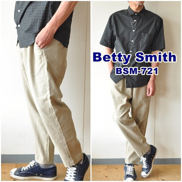 BETTYSMITH ベティスミス イージーパンツ リラックスパンツ BSM721 ユニセックス 男女兼用 麻パンツ