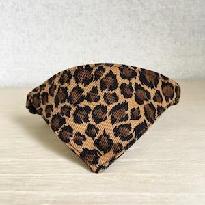 【ヒョウ柄ブラウン】猫用バンダナ風首輪/選べるアジャスター 猫首輪 安全首輪 子猫から成猫