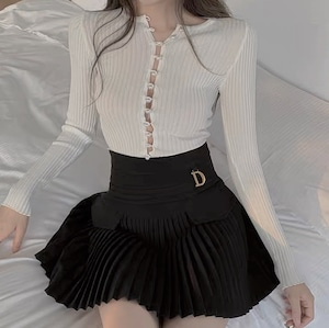 ❤︎ D pleats skirt 2color