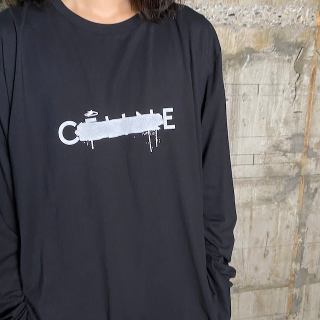 BLACK SCORE【ブラックスコア 】CE CROSS  LS Tシャツ(BLACK).