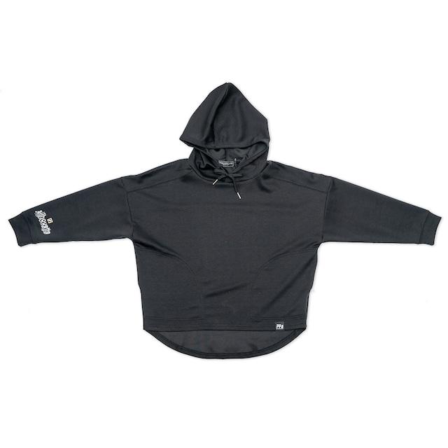 silhouette Jersey Wide Hoodie ブラック