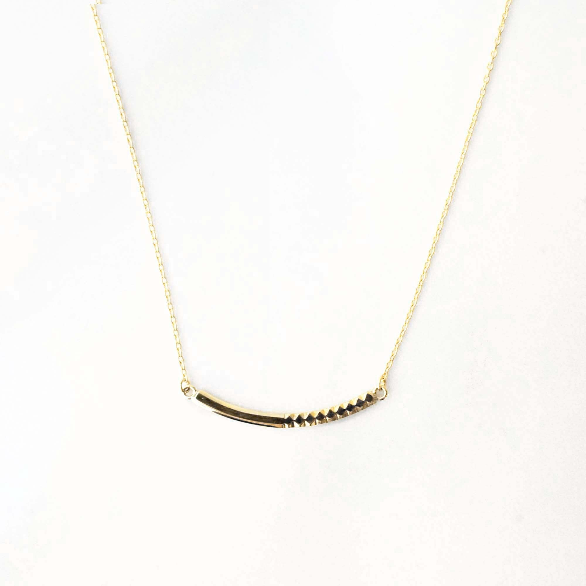 Rock Gold Necklace / S(N184-YG)