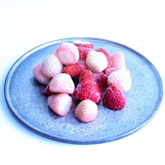 食べ比べ完熟冷凍苺「紅ほっぺ&淡雪 1.0kg × 2種類」化粧箱入|BERRY伊賀農園直送