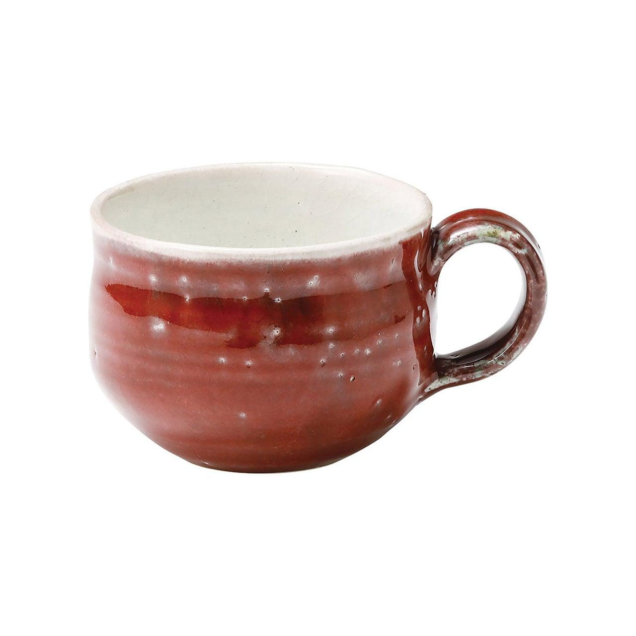信楽焼 へちもん マグカップ 約240ml 紅彩 MR-3-3344