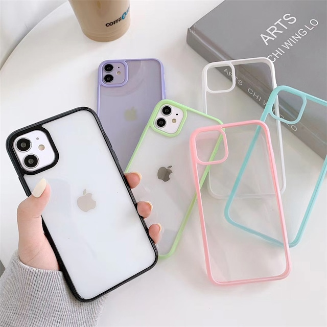 Candy color clear iphone case