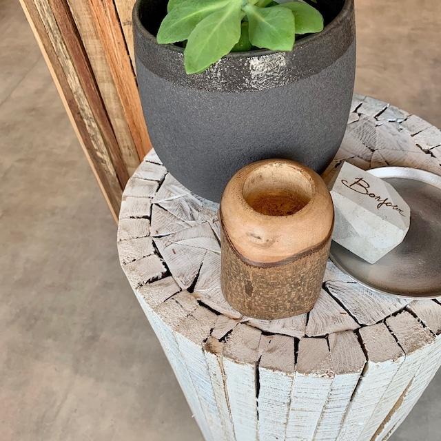 wood キャンドルホルダー