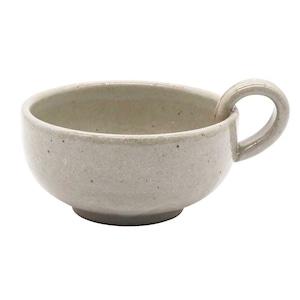 萬古焼 藍窯 スープカップ 320ml 「エスタ Esta」 赤土グレー AGM-200097