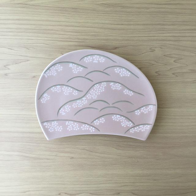 【1点限り*有田焼】吉野山  半月焼物皿