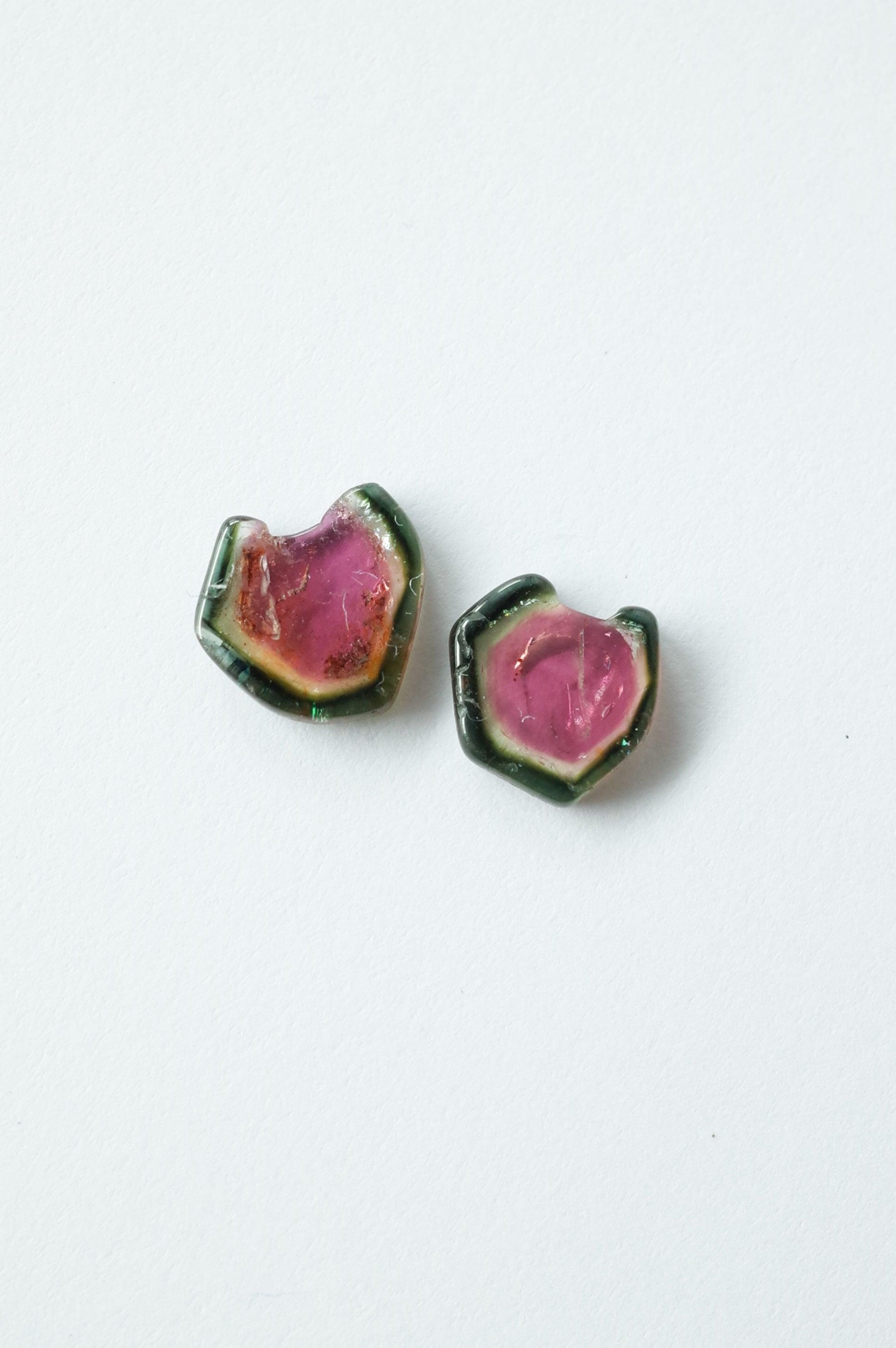 Water Melon Tourmaline / pair-006