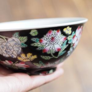 『おおきめの茶碗/黒花』景徳鎮